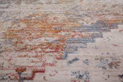 Vintage 703 Faded Multi-Colour Rug with Medallions - Lalee Designer Rugs