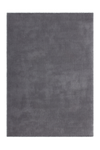 Velluto 400 Shaggy Soft Silver Rug with Plain Look - Lalee Designer Rugs
