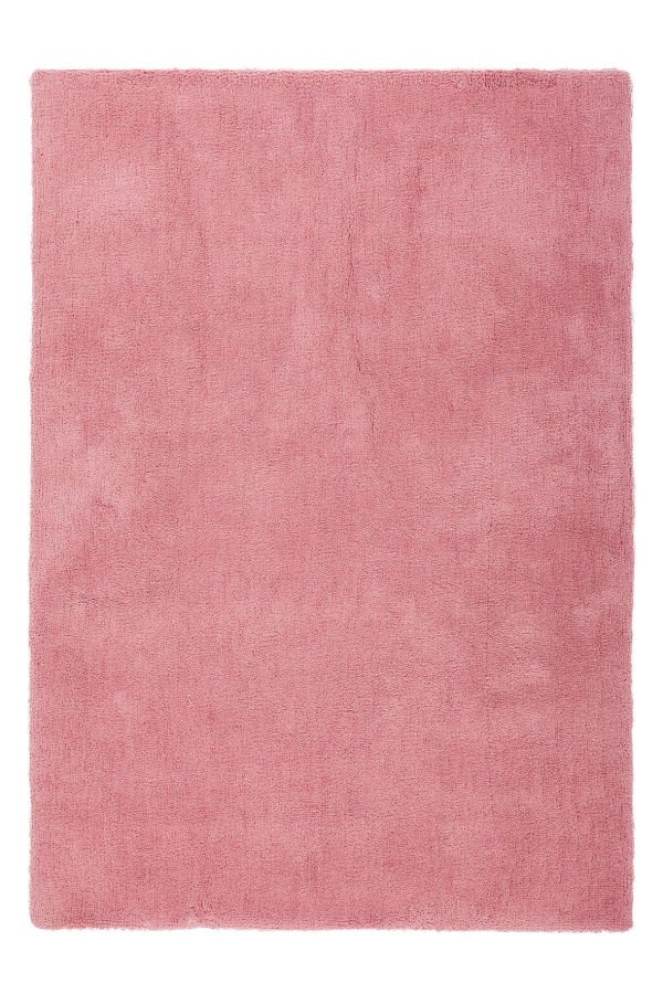 Velvet 500 Shaggy Plain Pebble Pink Rug with Soft Touch - Lalee Designer Rugs