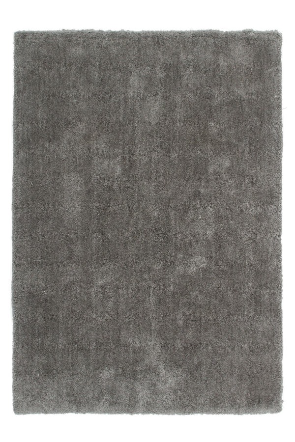 Velvet 500 Shaggy Plain Platin Rug with Soft Touch - Lalee Designer Rugs