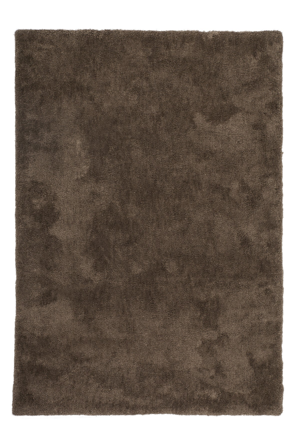 Velvet 500 Shaggy Plain Taupe Rug with Soft Touch - Lalee Designer Rugs