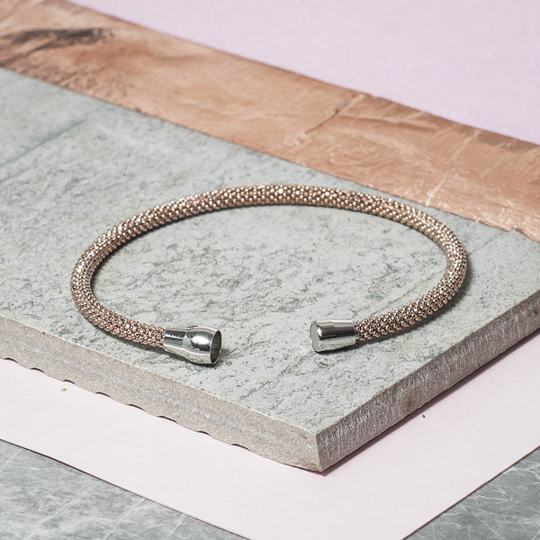 DIAMOND CUT ROSE GOLD BRACELET