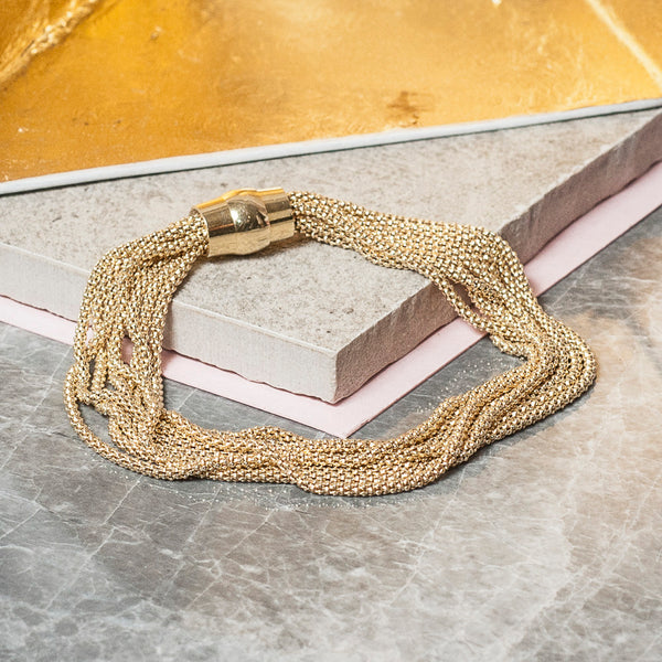 GOLD MULTI STRAND CHAIN BRACELET