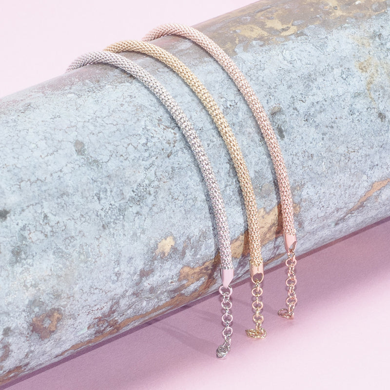 GOLD DIAMOND CUT CHAIN BRACELETS