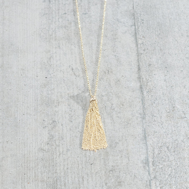 LONG TASSEL CHAIN NECKLACES