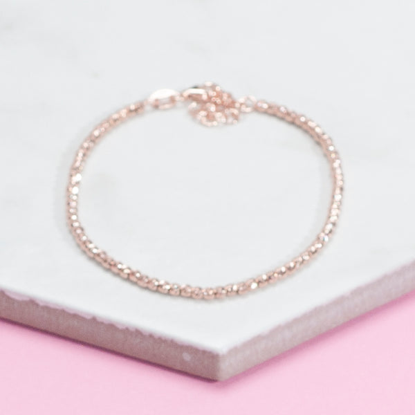 ROSE GOLD SPARKLE BEAD BRACELET