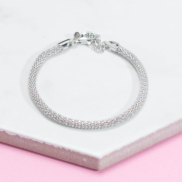 SILVER DIAMOND CUT CHAIN BRACELETS