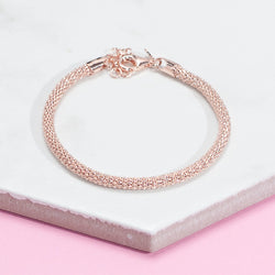 ROSE GOLD DIAMOND CUT CHAIN BRACELETS