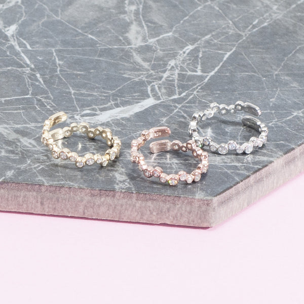 ZIRCON STACKING RINGS