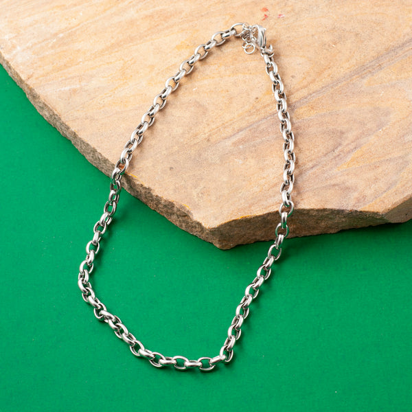 SILVER CLASSIC BELCHER CHAIN NECKLACE