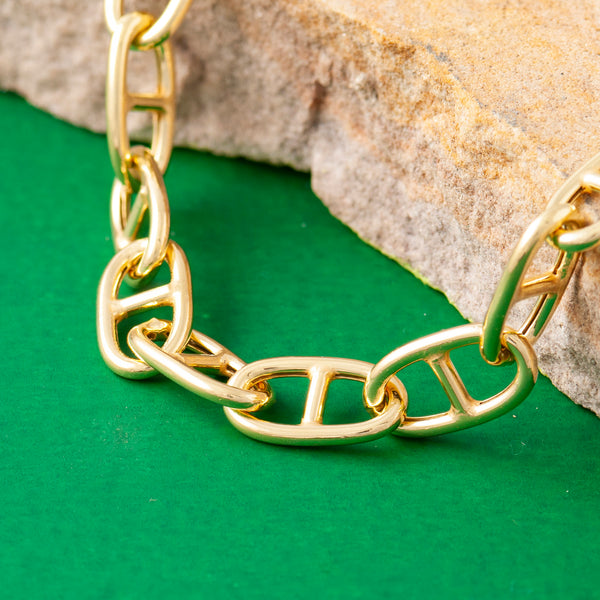 SMALL GOLD ANCHOR CHAIN NECKLACE