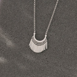 SILVER TASSEL CHARM NECKLACE