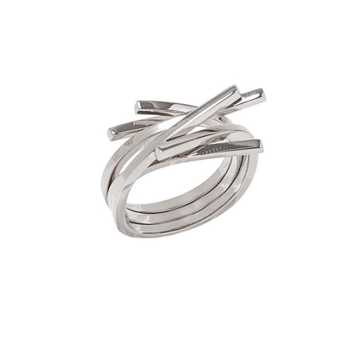 SILVER SMALL TWIG RING