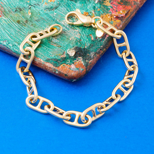 SMALL GOLD ANCHOR CHAIN BRACELET