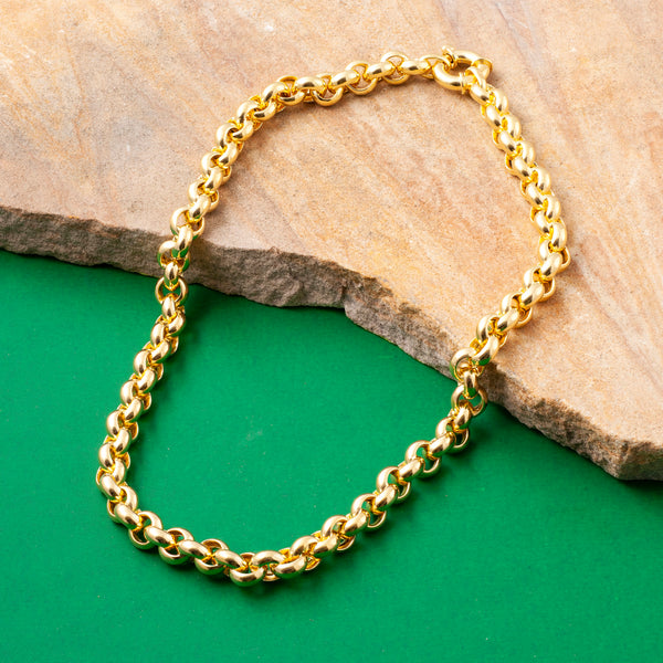 GOLD CHUNKY BELCHER CHAIN NECKLACE