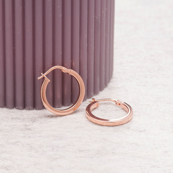 CLASSIC ROSE GOLD HOOP EARRINGS