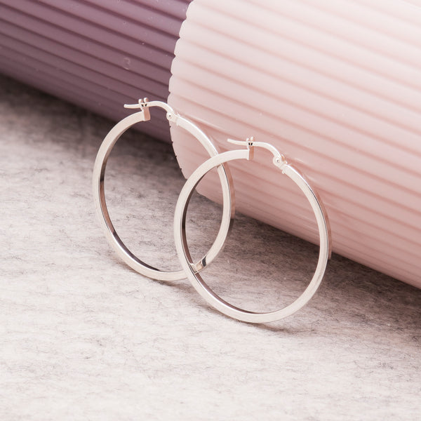 CLASSIC SILVER HOOP EARRINGS
