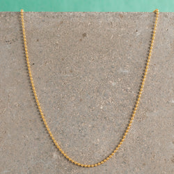 GOLD BEADED CHAIN NECKLACE