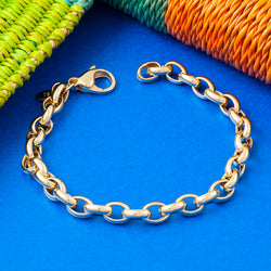 SMALL GOLD BELCHER CHAIN BRACELET