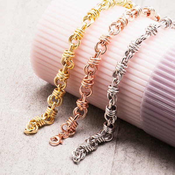 ROSE GOLD TWISTED CHAIN BRACELET