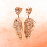 BRONZE ANGEL WING EARRINGS