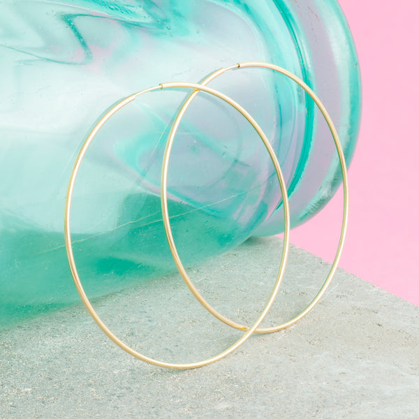 GOLD THREAD HOOPS