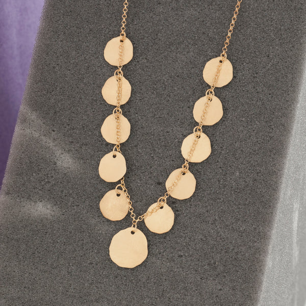 GOLD MULTIPLE COIN NECKLACE