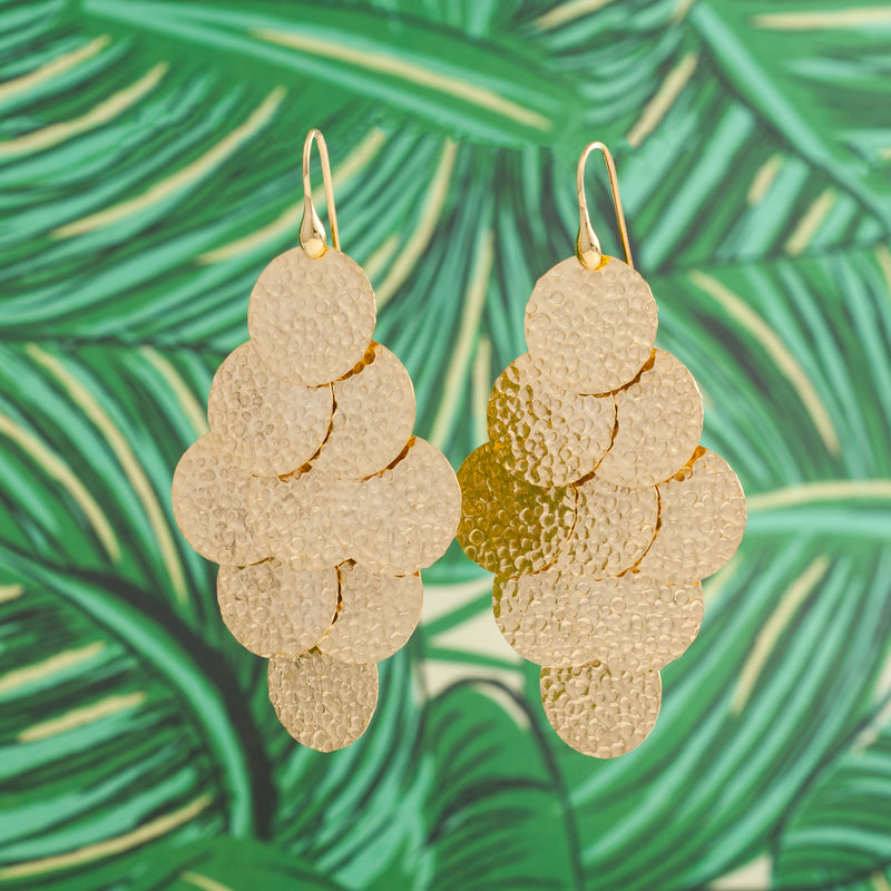 GOLD MULTIPLE DISC BOHO EARRINGS