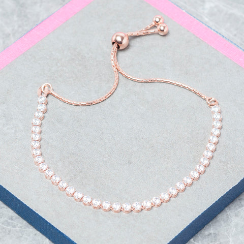 ROSE GOLD FRIENDSHIP TENNIS BRACELET