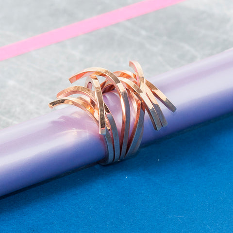 ROSE GOLD TWIG RING