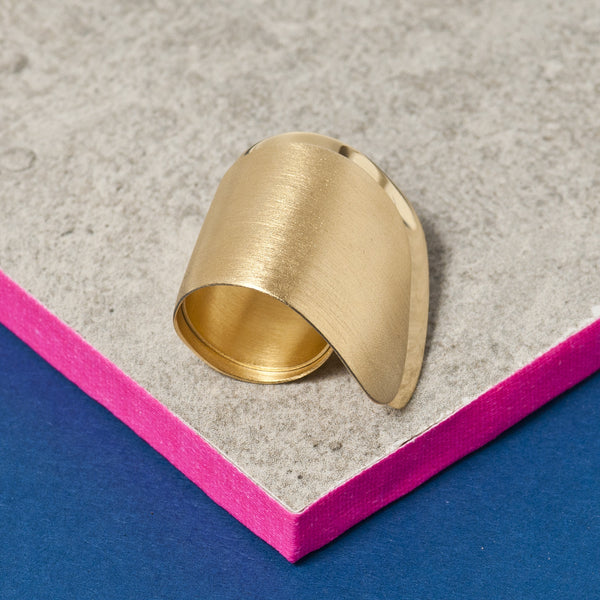 GOLD DOUBLE WAVE RING