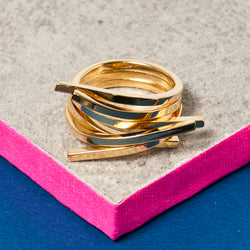 GOLD SMALL TWIG RING
