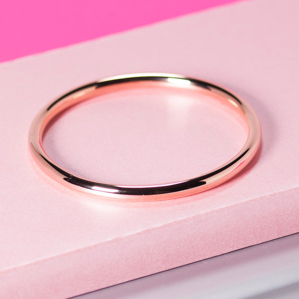 ROSE GOLD ROUNDED BANGLE