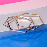 SILVER HEXAGON BANGLE