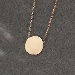 GOLD BATTERED COIN PENDANT