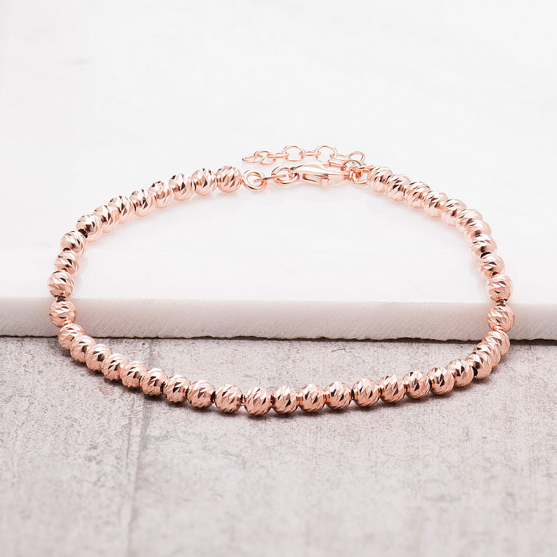 LARGE ROSE GOLD DISCOBALL BRACELET