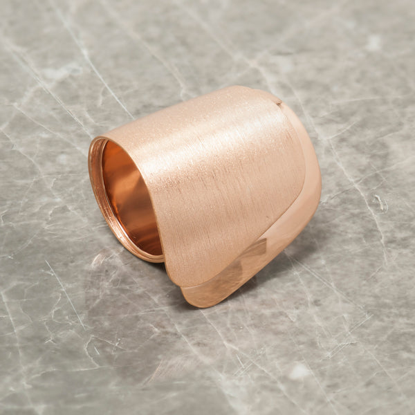 ROSE GOLD DOUBLE WAVE RING