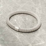 SILVER DIAMOND CUT STRETCH BRACELET