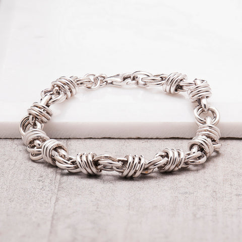 SILVER TWISTED CHAIN BRACELET