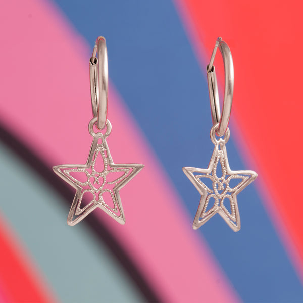 STAR LACE CHARM EARRINGS