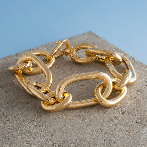 LARGE THICK GOLD CHAIN BRACELET