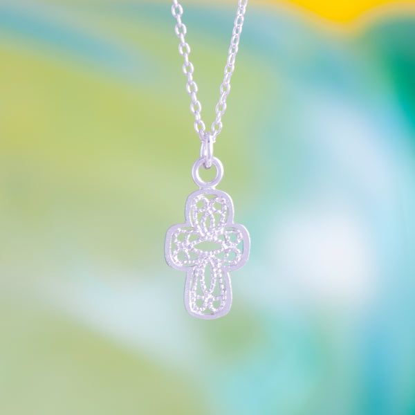 CROSS LACE PENDANT