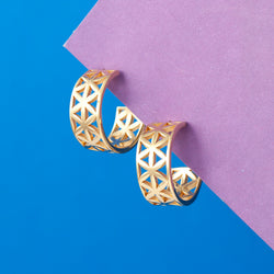 GEOMETRIC HOOP EARRINGS