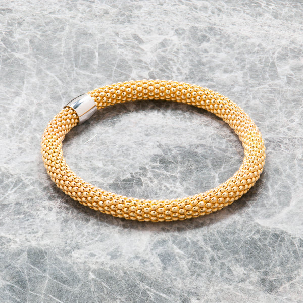 GOLD DIAMOND CUT STRETCH BRACELET