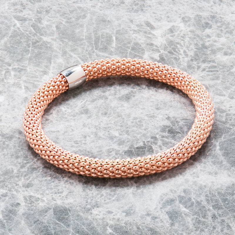 ROSE GOLD DIAMOND CUT STRETCH BRACELET