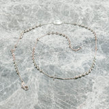 SILVER ROSARY BEAD NECKLACE
