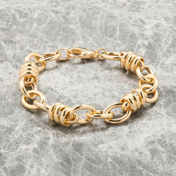 LARGE GOLD TWISTED CHAIN BRACELET