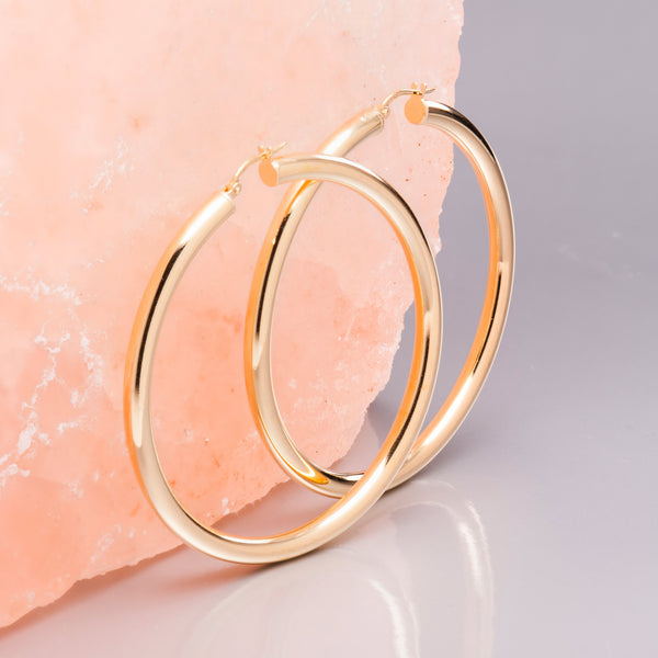 GOLD SUPER HOOPS