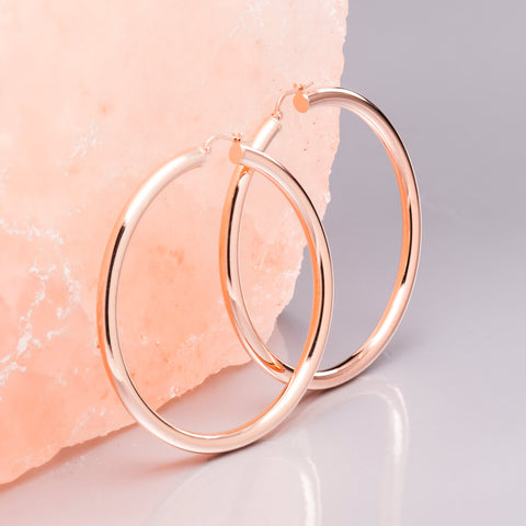 ROSE GOLD SUPER HOOPS