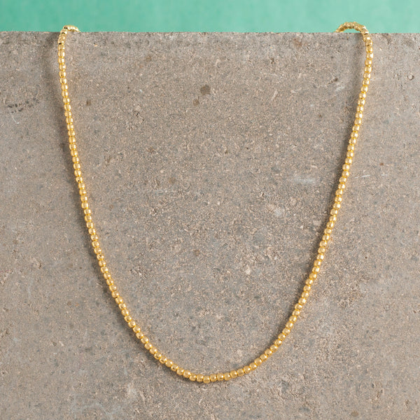 GOLD SPARKLE BEAD NECKLACE
